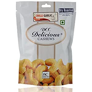 DCC DELICIOUS Dry Roasted Cashew (Chilly Garlic), 80G