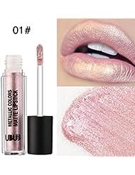 Tefamore UBUB Metal Pearl Rouge à Lèvres Hydratant Velvet Lipstick Maquillage de Beauté Cosmétique