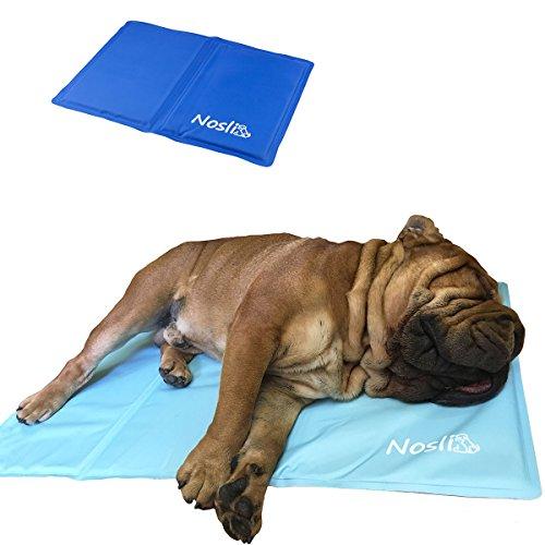 Nosli Kühlmatte Kühldecke Kühlkissen selbstkühlende Decke für Hunde / Sea blue L