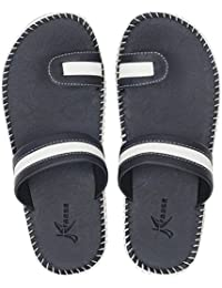 Kraasa Men's Leather Slippers