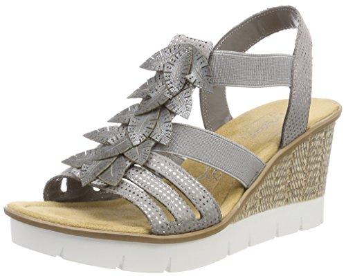 Rieker 43789, Zapatos de Tacón para Mujer, Azul (Atlantis), 36 EU