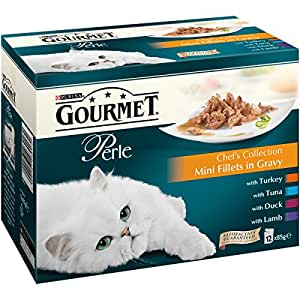 Gourmet Perle Chef's Collection in Gravy, 12 x 85 g - Pack of 4