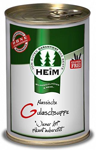 Klassische Gulaschsuppe Wiener Art pikant zubereitet (servierfertig) - 400g Konserve