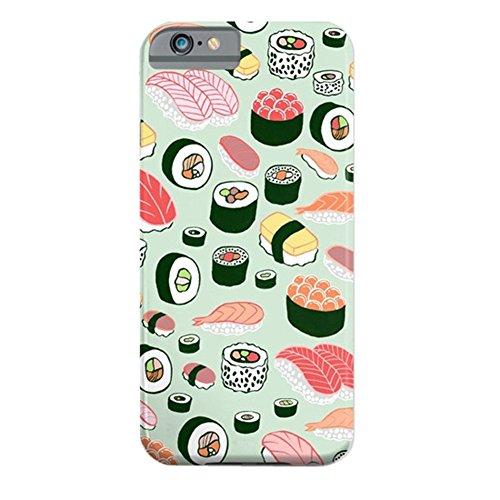 Cover iPhone 6s,TPU Gel Silicone Protettivo Skin Custodia Protettiva Shell Case Cover Per Apple iPhone 6 6S sushi
