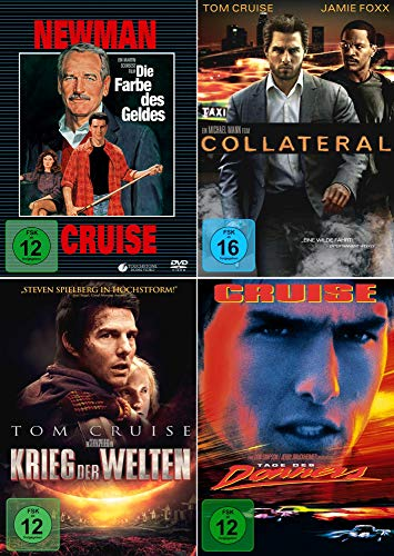 Tom Cruise 4-Filme Collection: Die Farbe des Geldes + Collateral + Krieg der Welten + Tage des Donners (Kein Box-Set)