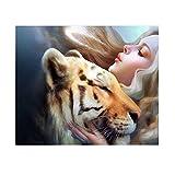 Rosepoem 12X16 pollici fai da te pittura diamante 5d dal numero kit tigre quadrato strass ricamo croce stitch ornamenti arti mestiere