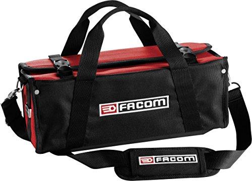 FACOM FCMBSSMB - Bolsa de textiles para mantenimiento (hasta 5 kg), color negro y rojo