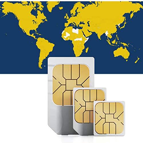 Prepaid Daten Sim Karte (mobiles Internet) für die USA, Australien, Schweiz, Norwegen, Finnland, Schweden, Dänemark, Österreich, Italien, Großbritannien und Irland mit 1 GB Guthaben Usa Mobile