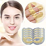 Under Eye Mask - 24k Gold Eye Gel Patches for Dark Circles, Bags, Puffiness   Hydrating Natural Anti Aging Face Pads   Treatment for Men & Women   Brighten, Depuff, Firm (5-Pack)