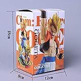 Anime Dragon Ball Z Vegeta Son Goku Fusión Gogeta Super Saiyan Figuración de Chocolate Com Figura de Acción PVC DBZ Modelo de Juguete, Ángel