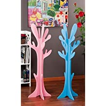 txt perchero rbol de madera multicolor rosa o azul h cm