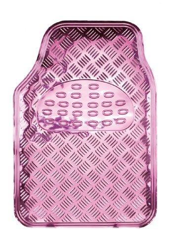 "Preisvergleich Produktbild Bottari 29108 Gummifußmatte ""I Love Chrome"" aus PVC-Laminat, rutschfeste Oberfläche, 4 Teile, Rosa"