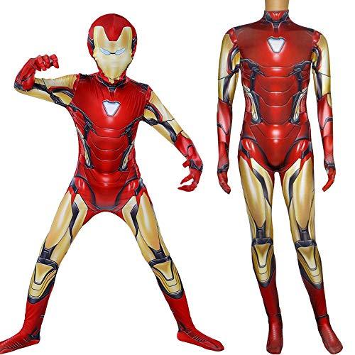 Lydia's Anime Cosplay Kleidung Iron Man Cosplay Kostüm The Avengers 4 3D Digitaldruck Enge Weihnachten Halloween Kostüm Für Kinder/Erwachsene XXS (Weibliche Iron Kostüm Man)