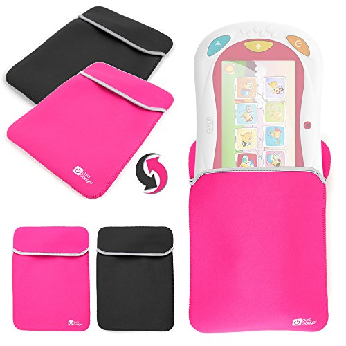 Custodia Per Chicco 5710 | 00007579200000 | Happy Tab Blocks - Gioco Happy Tablet - Versione 2016 / 2015 / 2014 - Reversibile Rosa / Nera - DURAGADGET