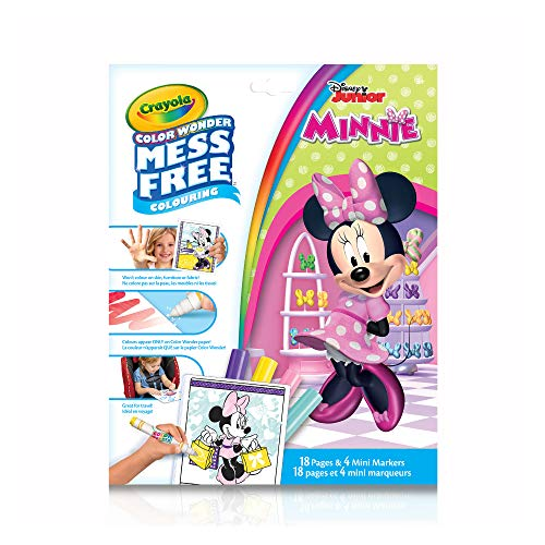 Crayola Color Wonder Mess Free Colouring Minnie Mouse - 18 Pages and 4 Mini Markers (Color Wonder Mini)