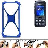 K-S-Trade Handyhülle für Samsung Xcover 550 Silikon Schutz Hülle Cover Case Bumper Silikoncase TPU Softcase Schutzhülle Smartphone Stoßschutz, blau (1x)