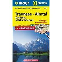 Traunsee-Almtal XL: Wander-, MTB- und Tourenkarte 1:25000 GPS-genau