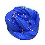Fluffy Slime - Cute Super Soft Cream Jumbo Fluffy Floam Slime Stress Relief Toy Cream Scented Sludge Clay Toys Gifts for Kids and Adults - 60ml (Blue)