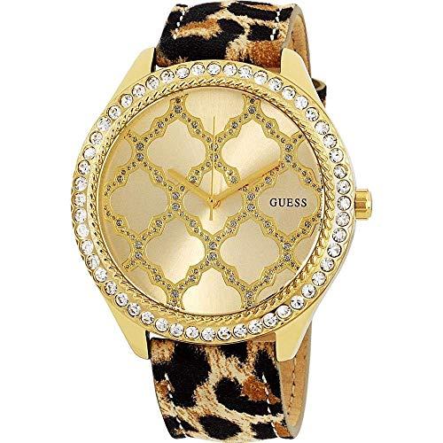 Guess w0579l5, Damen Kleid, Edelstahl, goldfarben, Kristall akzentuierte Lünette, 30m WR (Guess Watch Damen)