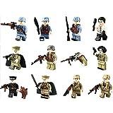 Spieland Mini Figurines en Kit- 12 PCS SWAT Armée Minifigurines Blocs de Construction Jouet Cadeau Enseigner Cadeau Noël Calendrier de l'Avent aux Enfants