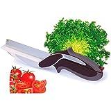 COUPE EXPRESS SLICE41 Kitchen Pro Couteau à éplucheur Acier Inoxydable Noir 25 x 7 x 2 cm