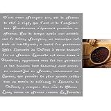 Rayher Schablone Polyester 30,5cm x 30,5cm, Text Schreiben Französische für François 1.