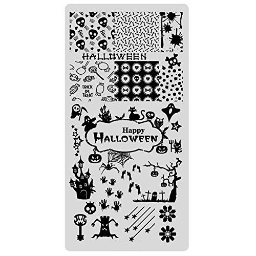 (Stamping Schablone Halloween Nailart Grusel Party)