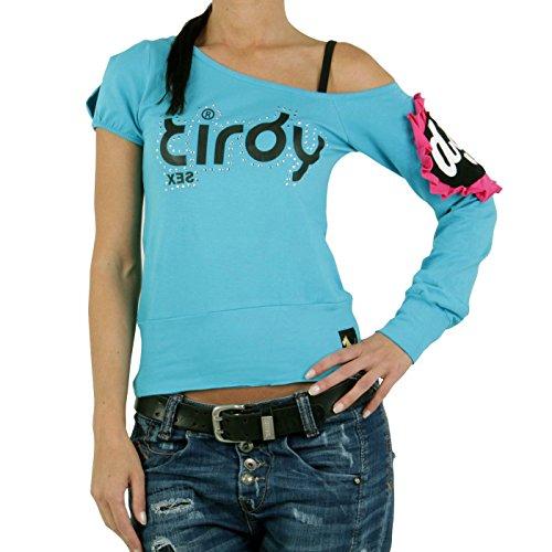 Maglietta da donna turchese TIRDY IR05-213 turchese X-Small