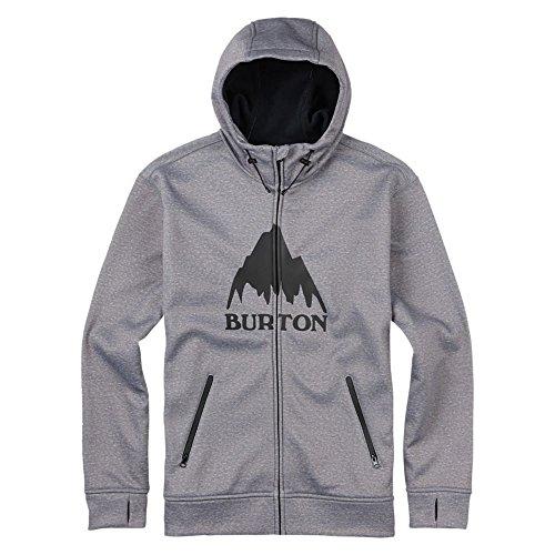Burton Bonded Felpa con cappuccio e cerniera intera, da uomo, Uomo, Hoodie BONDED FULL-ZIP, Monument Heather, XL