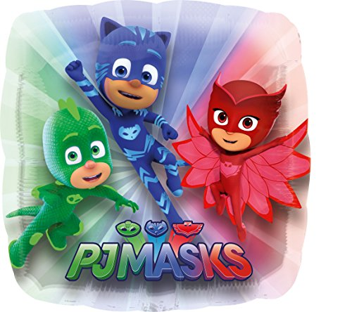 nballon PJ Masks Eckig, Weiß (Pyjama-party Dekorationen)