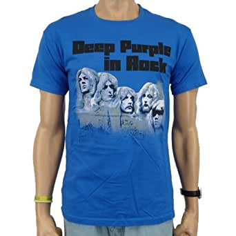 Deep Purple - In Rock Band T-Shirt, blau, Größe:L