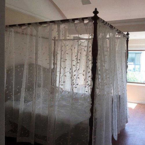 Spitzen-moskitonetz, Mediterrane amerikanischer chinesische klassiker bettwäsche vier ecke moskitonetz bett baldachin prinzessin moskitonetz-C King (Amerikanische Kinder Bettwäsche)
