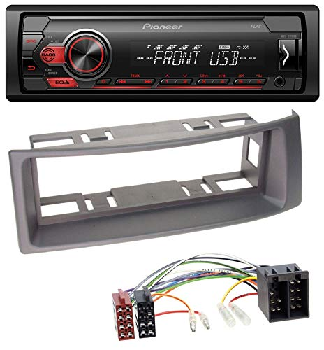 Pioneer MVH-S110UB AUX MP3 USB 1DIN Autoradio für Renault Megane Scenic Classic Cabrio Grandtour 04 Auto-stereo-subwoofer