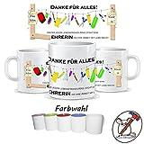 Tasse für den Lehrer / Tasse für die Lehrerin / Danke für alles / Personalisierbar mit Klasse und/oder dem Namen des Kindes und des/der Lehrers/Lehrerin / GESCHENKIDEE LEHRER / GESCHENKIDEE LEHRERIN / Tasse Lehrer / Tasse Lehrerin