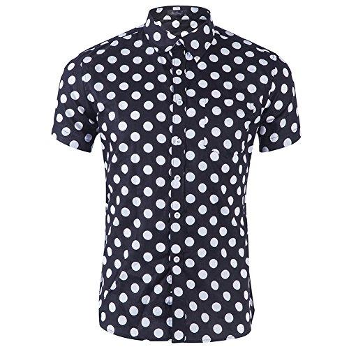 Camisas Hawaianas Hombre Casual Manga Corta Estampada con Múltiples Opciones Tipo 11 S
