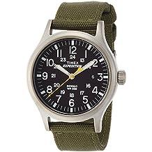 Timex Expedition T49961SU - Reloj de cuarzo para hombres, correa de nailon, color verde