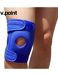 V.POINT Support à genouillère réglable en néoprène respirant de haute qualité, protège-rotule anti-dérapant Support anti-dérapant pour le genou avec rembourrage EVA (quatre couleurs pour choisir)