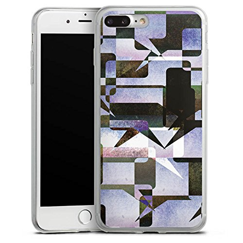 Apple iPhone 8 Slim Case Silikon Hülle Schutzhülle Grafisch Kollage Modern Silikon Slim Case transparent