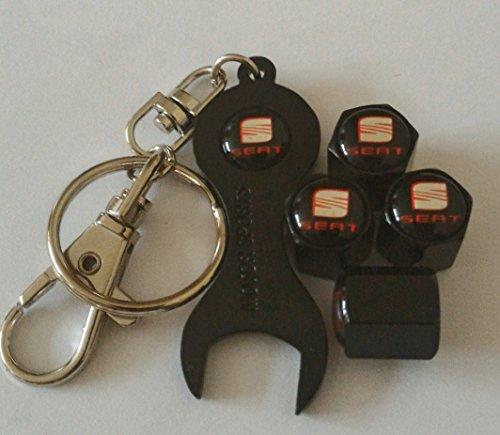 seat-noir-roue-bouchons-de-valve-casquettes-exclusif-a-nous-avec-chrome-spannerkeychain-tous-les-mod