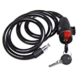 #4: Rrimin Universal Anti-Theft Steel Coil Cable Motorcycle Lock Bicycle Lock with Key
