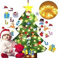Fansport Árbol de Navidad DIY, niño Árbol de Navidad con Luces LED Independientes árbol de Navidad pequeño Navidad Decoración Mini arbol de Navidad arboles de Navidad Decorados Cafe casa decoración
