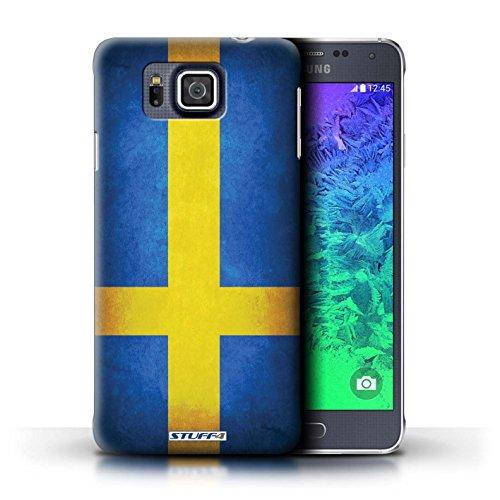 Kobalt® Imprimé Etui / Coque pour Samsung Galaxy Alpha / Algérie conception / Série Drapeau Suède/suèdois