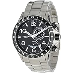 Torgoen Swiss Herren-Armbanduhr Analog Quarz Edelstahl T20205
