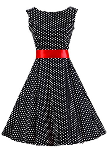 Crazycatz®Vintage Kleid Audrey Hepburn 50's Bubble Skirt Rockabilly Swing  Dress DV3002