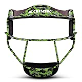 """Champro The Grill Defensive Fielder's Facemask, Lime Green, 6 1/4""""- 6 3/4"""""""