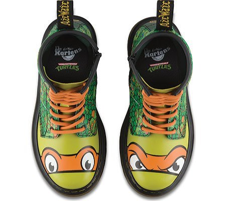 Dr. Martens Mikey T Lamper Boot Green Orange Vert
