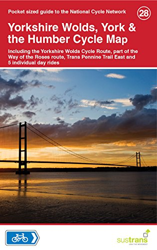 Yorkshire Wolds, York & The Humber Cycle Map 28 por Sustrans
