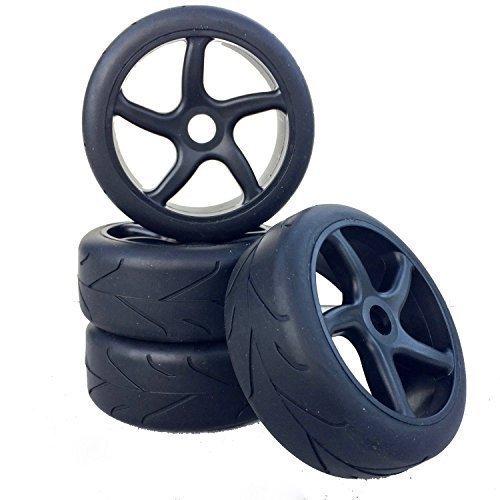 Buggy Reifen Felgenset Virus Street mit 5-Speichenfelge schwarz 1:8 partCore 320027 320027