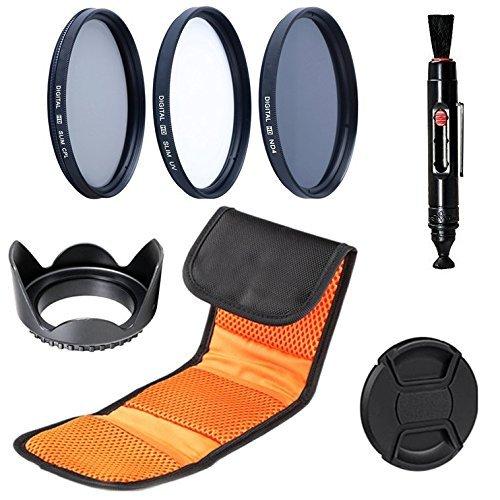 58 mm Set di filtri: Slim Filtro UV, Slim Filtro Polarizzatore circolare, Filtro neutro ND4 filtri per Canon EOS 1D, 5D, 5DS, 5DS R, 6D, 7D, 10D, 20D, 30D, 40D, 50D, 60D, 70D, 80D, 100D, 300D, 350D, 400D, 450D, 500D, 550D, 600D, 650D, 700D, 750D, 760D, 1000D, 1100D, 1200D, 1300D Fotocamera Reflex Digitale (Diametro 58mm )