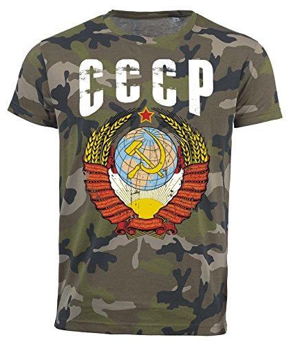 T-Shirt CCCP Camouflage Army WM 2018 .- Vintage Destroy Wappen D01 (S)